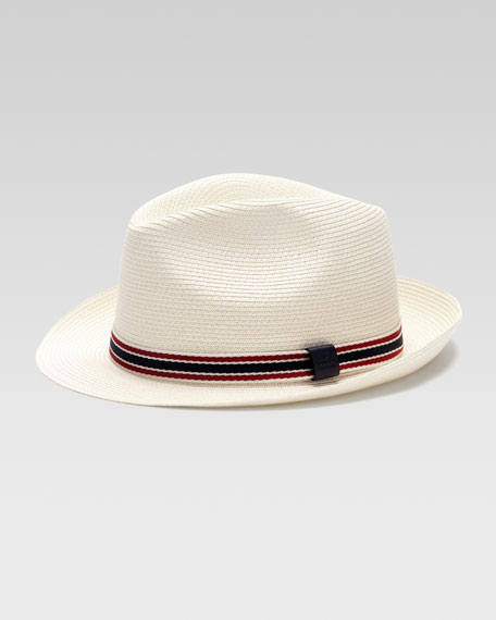 Straw Fedora Hat, Natural