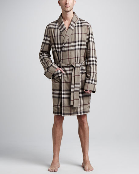 Check Flannel Robe