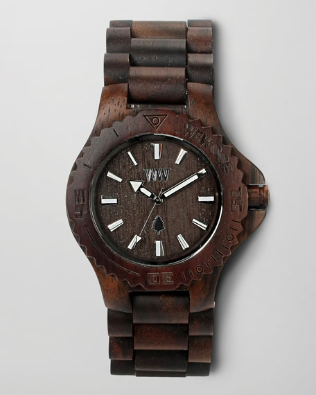 Wooden Watch, Chocolate