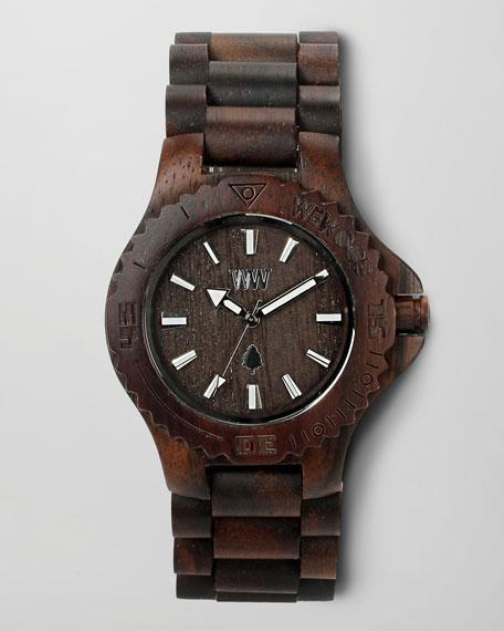 Wooden Watch, Chocolate
