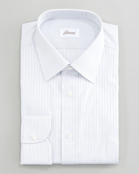 Striped Dress Shirt, Gray