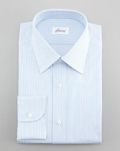 Thin Stripe Dress Shirt, Blue/White