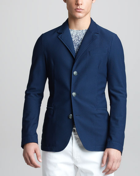 Mesh Three-Button Jacket