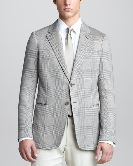 Prince of Wales Jersey Sport Coat