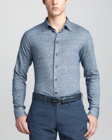Jersey Sport Shirt, Blue