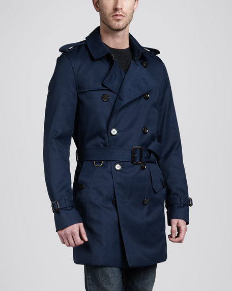 Technical Trenchcoat, Blue Carbon