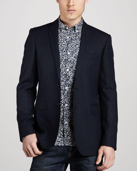 Textured Check Sport Coat