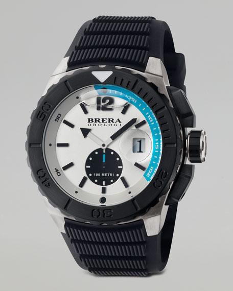 Acqua Diver Watch, White/Blue