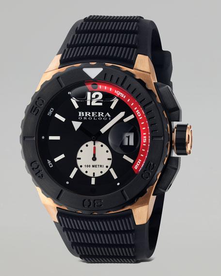 Acqua Diver Watch, Black/Red