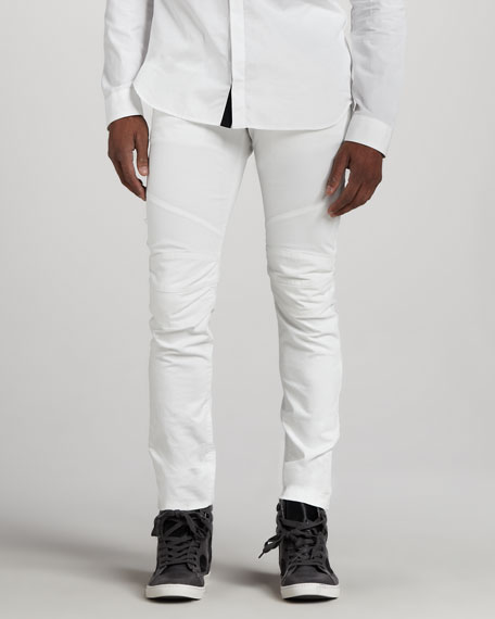 Biker Jeans, White