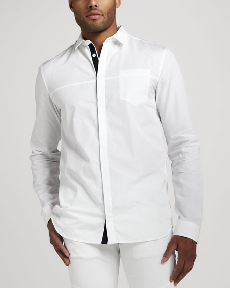 Contrast-Placket Shirt