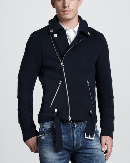 Knit Biker Jacket
