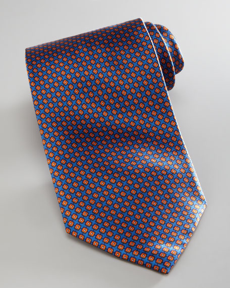Square-Pattern Tie, Navy
