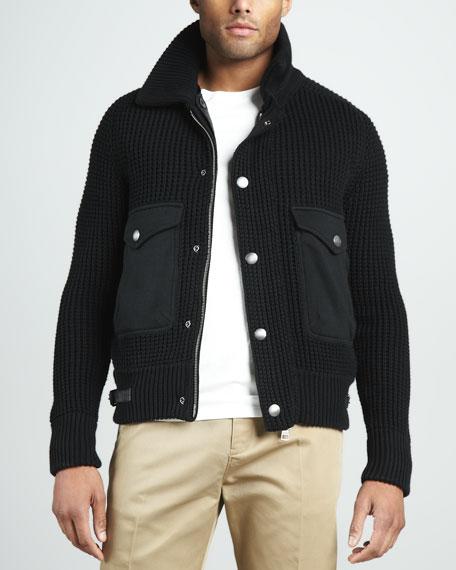 Chunky-Knit Cardigan Jacket