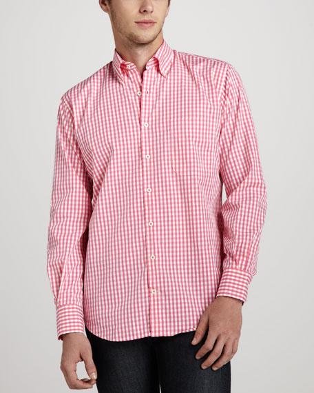 Check Sport Shirt, Tango Pink