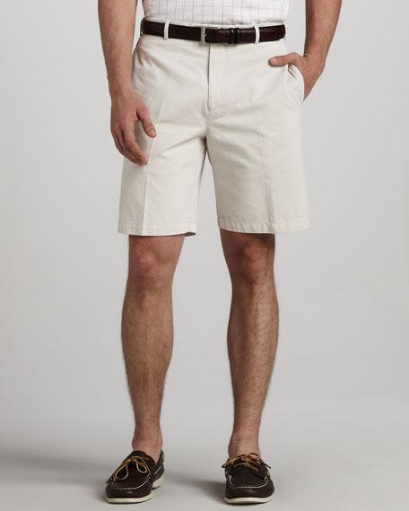 Winston Washed Twill Shorts, Stone