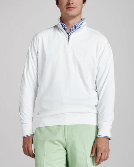 Interlock Quarter-Zip Sweater, White