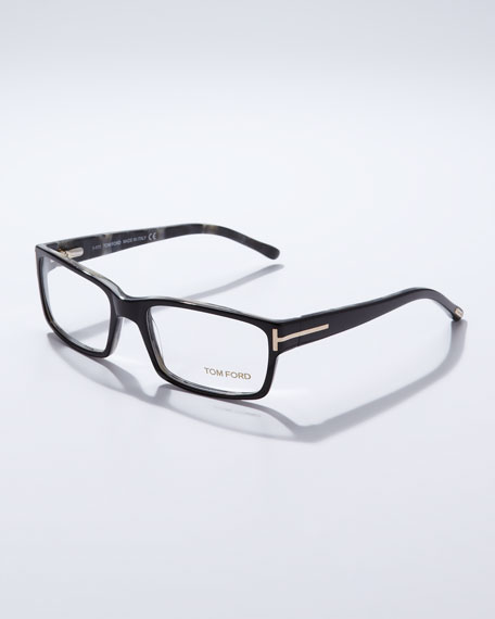 Square Frame Fashion Glasses, Black
