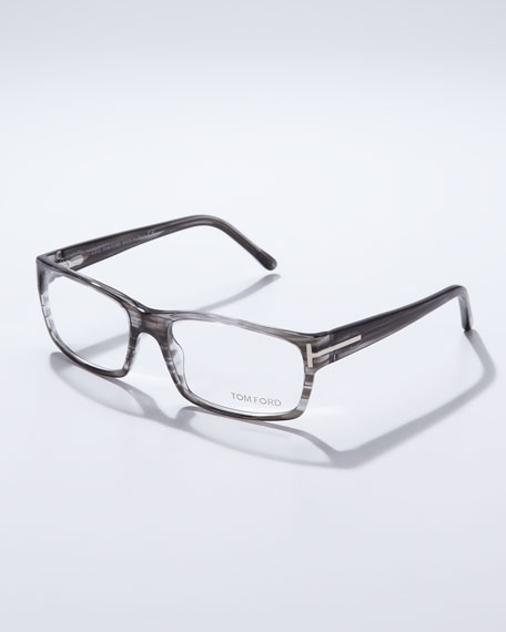 Square Framed Fashion Glasses : TOM FORD Square Frame Fashion Glasses, Gray