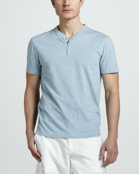 Short-Sleeve Henley Tee