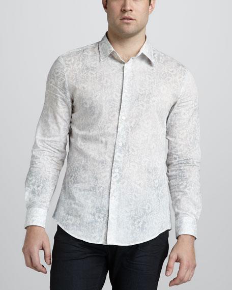 Floral-Print Sport Shirt