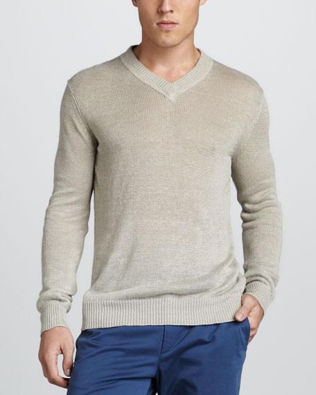 Aronn Linen V-Neck Sweater