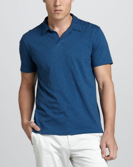 Willem Slub Polo, Blue