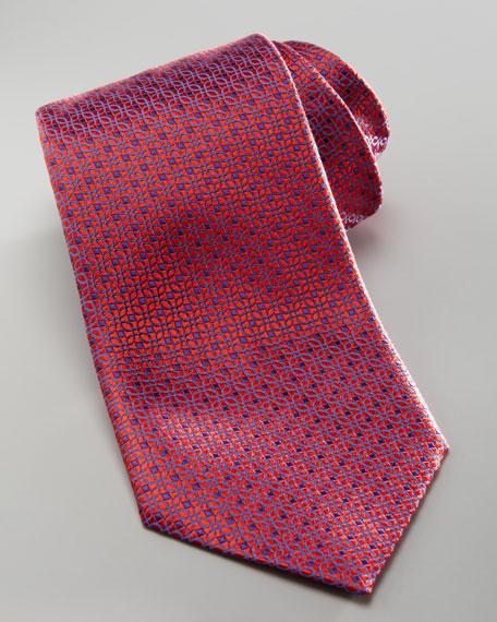 Pindot Silk Tie, Red