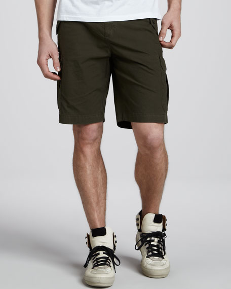 Cotton Cargo Shorts, Oregano