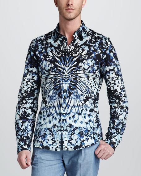 Camo/Butterfly-Print Sport Shirt