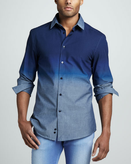Trend-Fit Ombre Sport Shirt