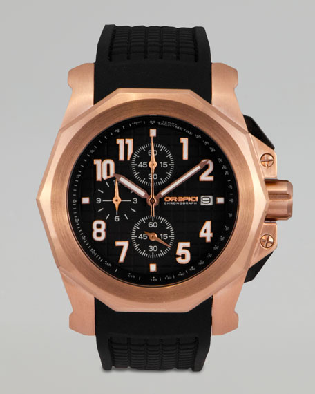 Galante Rubber-Strap Chronograph Watch