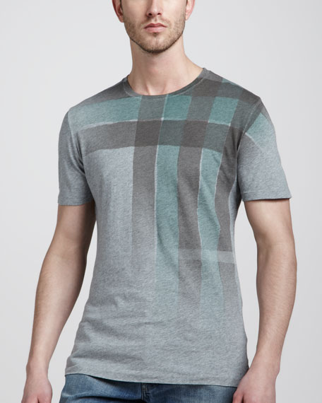 Ombre Check-Graphic Tee