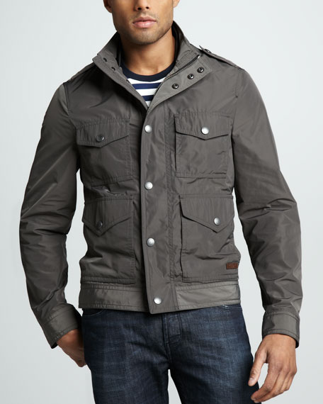 Four-Pocket Field Jacket, Dark Gray
