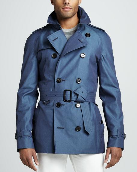 Short Gabardine Trenchcoat