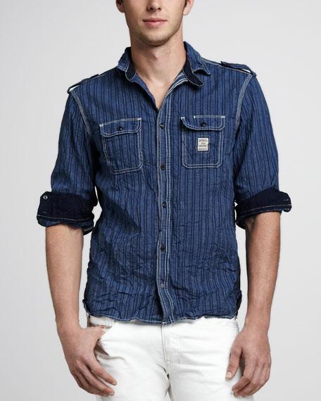 Stepy Striped Denim Shirt