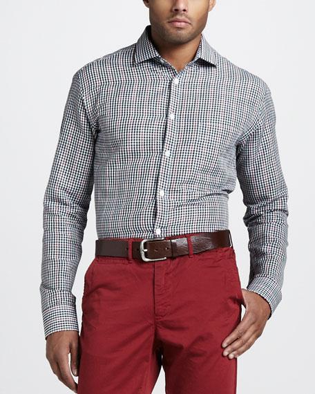 John T Linen-Blend Sport Shirt