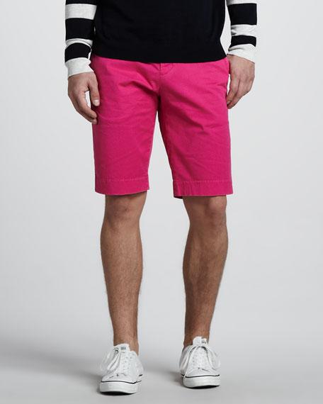Twill Trouser Shorts, Hot Lips