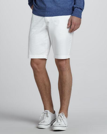 Twill Trouser Shorts, Khaki