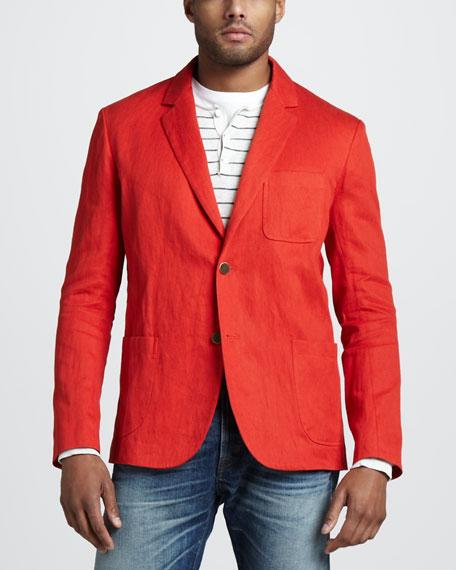 Linen-Cotton Blazer
