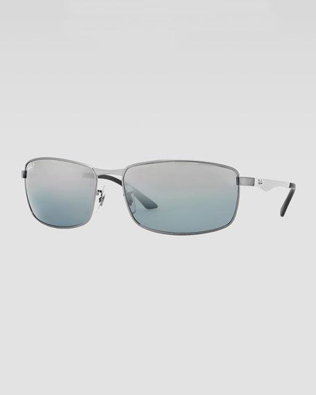 Rectangle Mirror Sunglasses