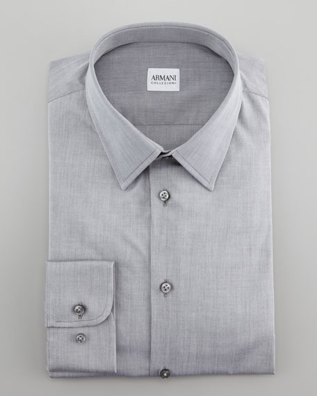 Solid Dress Shirt, Gray