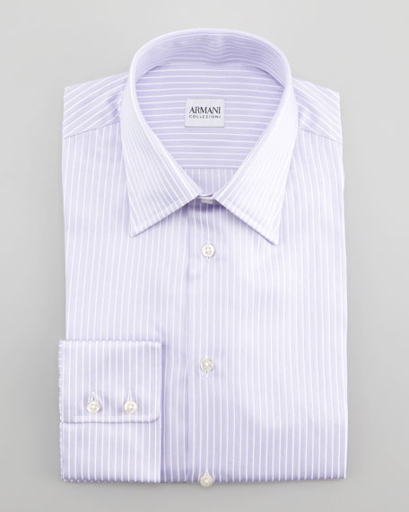 Striped Dress Shirt, Lavender