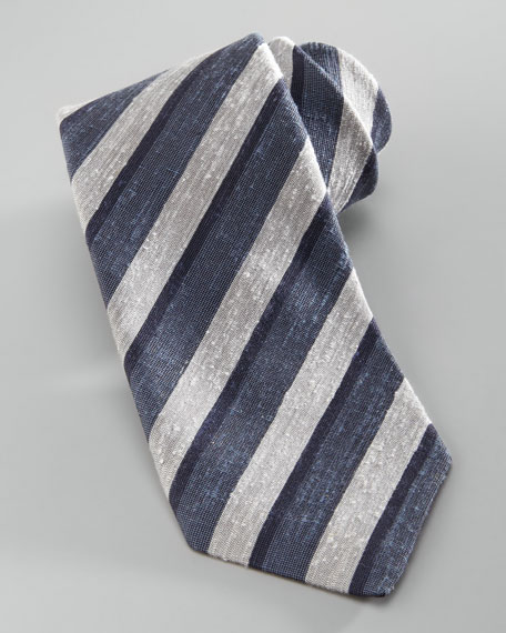 Skinny Striped Silk Tie