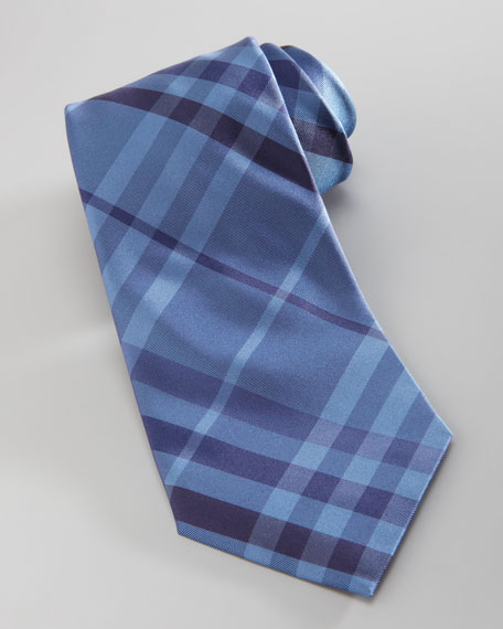Check Tie, Blue
