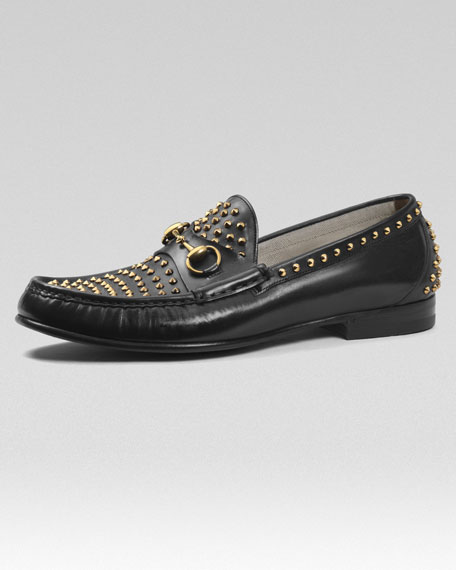 Roos Studded Leather Loafer