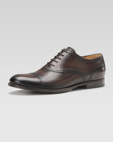 Leather Brogue Lace-Up Shoe