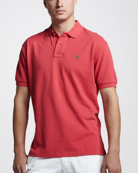 Custom-Fit Polo, Sunset Red