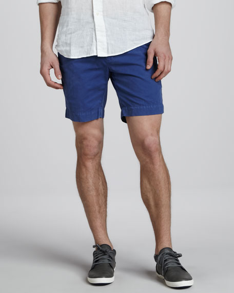 Hudson Pima Shorts, Vintage Royal