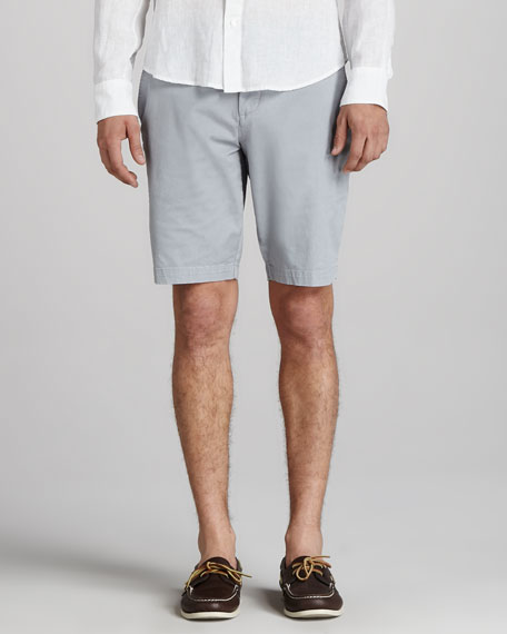 Twill Trouser Shorts, Silver